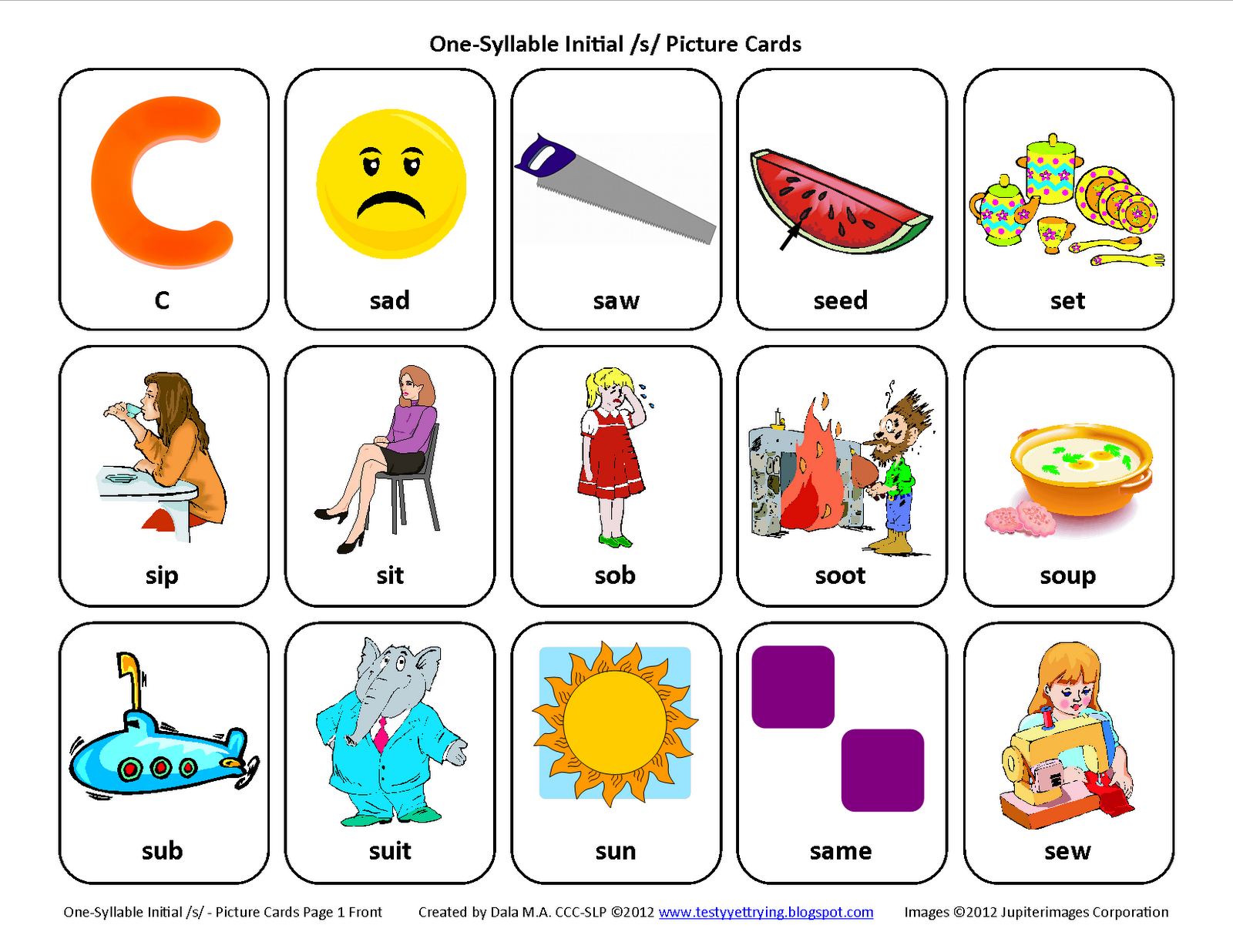 Printables Articulation Worksheets articulation cards mrs doughtys speech class download file